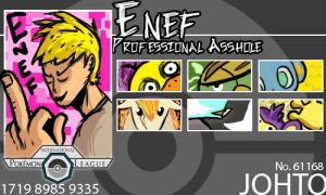 POKELEAGUE TRAINERCARD: ENEF by Enef