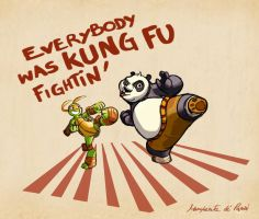 TMNT and KUNG FU PANDA by WongHyo