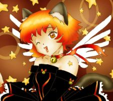 KittyAngel, catgirl with stars by Truthdel