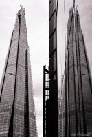 The Shard reflected . by 999999999a
