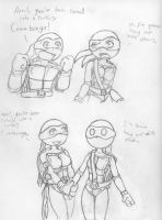 Turtle April Meets the Gang 1 by Gauntlet101010