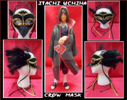 Crow Inspired Masquerade Mask by pikabellechu