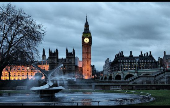 BiG Ben Fountain by d3lf