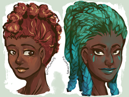 Lantana Fire And Water Girls by ForeverSoaring