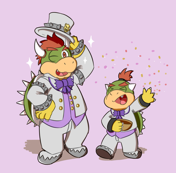 Bowser in suit by smlie1