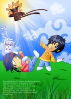 Kite Flying Brothers by Galistar07water