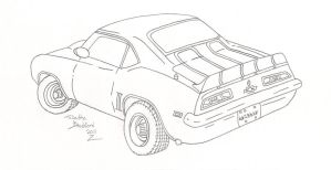 69' Camaro Lineart by somechick73