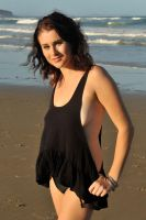 Rommley - black singlet on beach 2 by wildplaces