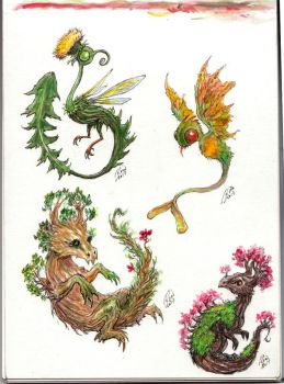 Plant Dragonlings by Kaytara