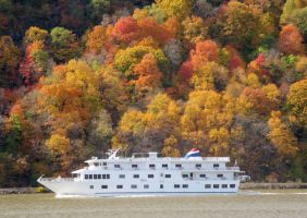Boatload of Leaf Peepers on Hudson by body-electric