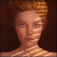 Dope Lighting Portrait Painting 8 Day #365 by AngelGanev