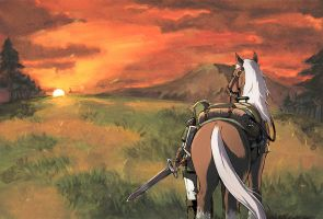 Link and Epona by dongurikyouko