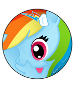 Rainbow Dash Pin by BrittanysDesigns