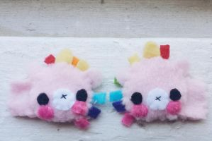Unicorn Hairclips by CosmiCosmos