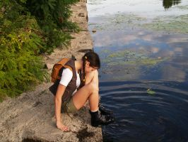 Behind the camera: wet boots by TanyaCroft