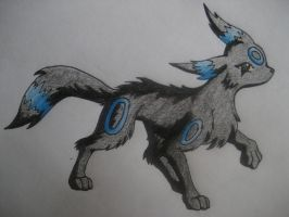 Shiny Umbreon :Finished: by Canine-Wild