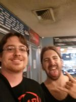 Me with Simon Girard of BEYOND CREATION by metalheadrailfan