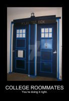 College Roommates TARDIS by handstobraces