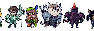 COMMISSION: DnD Group by Cubesona