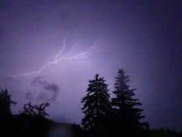 Lightning over a Dark Cloud by irrationalrationale