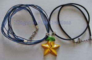 Paopu fruit share necklace Kingdom Hearts by Hyline82
