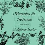 Butterflies and blossoms by rL-Brushes