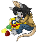 Annubis Candy Badge by MystieRius