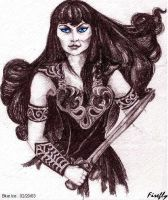 Xena Sketch by firefly-wp
