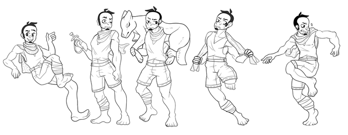 Big Bad Wolf Action Pose Sheet by Captainier