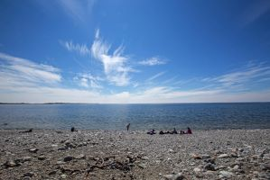Summerday at the Stony Beach by attomanen