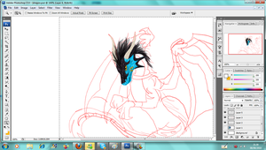 DragonRider428 commish WIP by reaper-neko