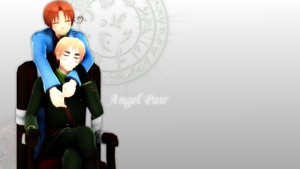 {MMDxAPH Wallpaper} Angel Pair by Muxyo