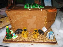 Gingerbread Jawas and R2-D2 by ShipperTrish
