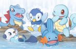 The Water Starters by zimmay