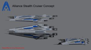 Alliance Stealth Cruiser Concept by reis1989