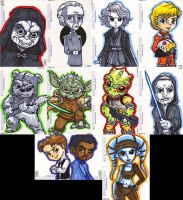 Star Wars Galactic Files Puzzle Cards by lordmesa