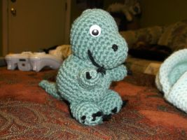 Crochet Baby T-Rex by ShadowOrder7