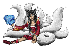Ahri Fan Art by HarlandGirl