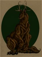 Elk monster by Clairictures