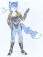 New outfit for Krystal by FoxBluereaver