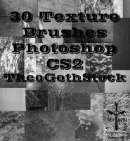30 Texture Brushes by TheoGothStock