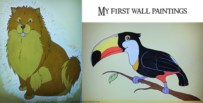 First wall paintings by chezzepticon
