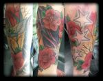 Swallow and roses by state-of-art-tattoo