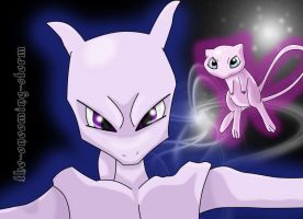 Mew and Mewtwo 2009 by The-Oncoming-Storm