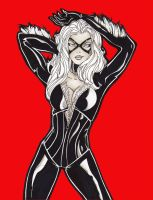 Black Cat Fiery Red by TinyAmazon