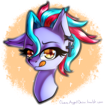 Commission - Dawn Tag portrait (mlp OC) by ChaosAngelDesu
