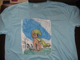 Happy to kick your flank t-shirt by IronBrony