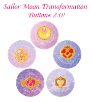Sailor Moon Transformation Buttons 2.0! by Boundbyribbon