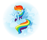 Raindow Dash by sunflic