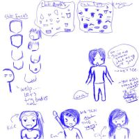 .Chibi Notes and Doodles. by 7madi7